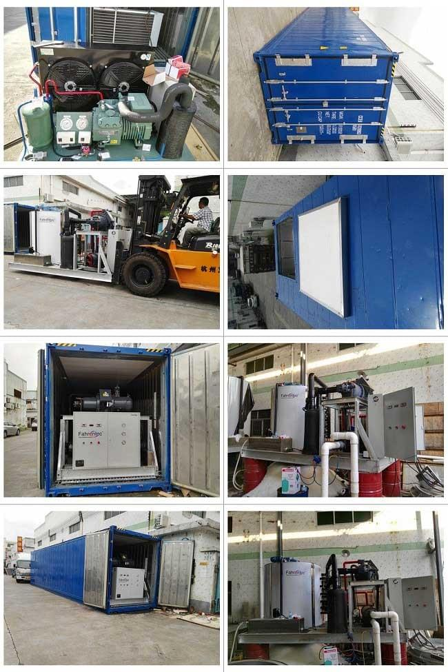 20 ton daily flake ice machine with containerized ice process plant