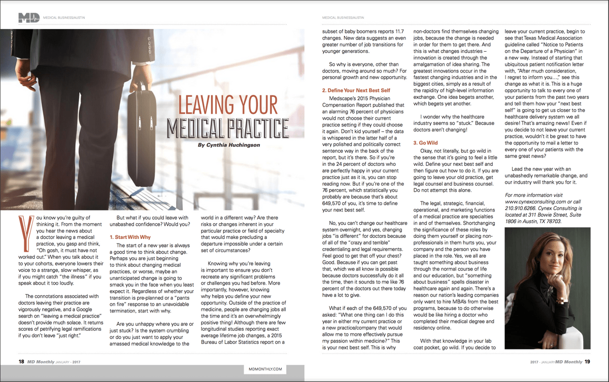 guidelines for leaving a medical practice in texas