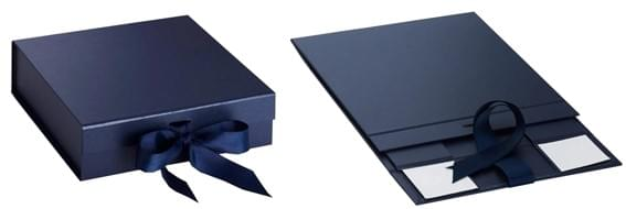 navy blue foldable gift boxes