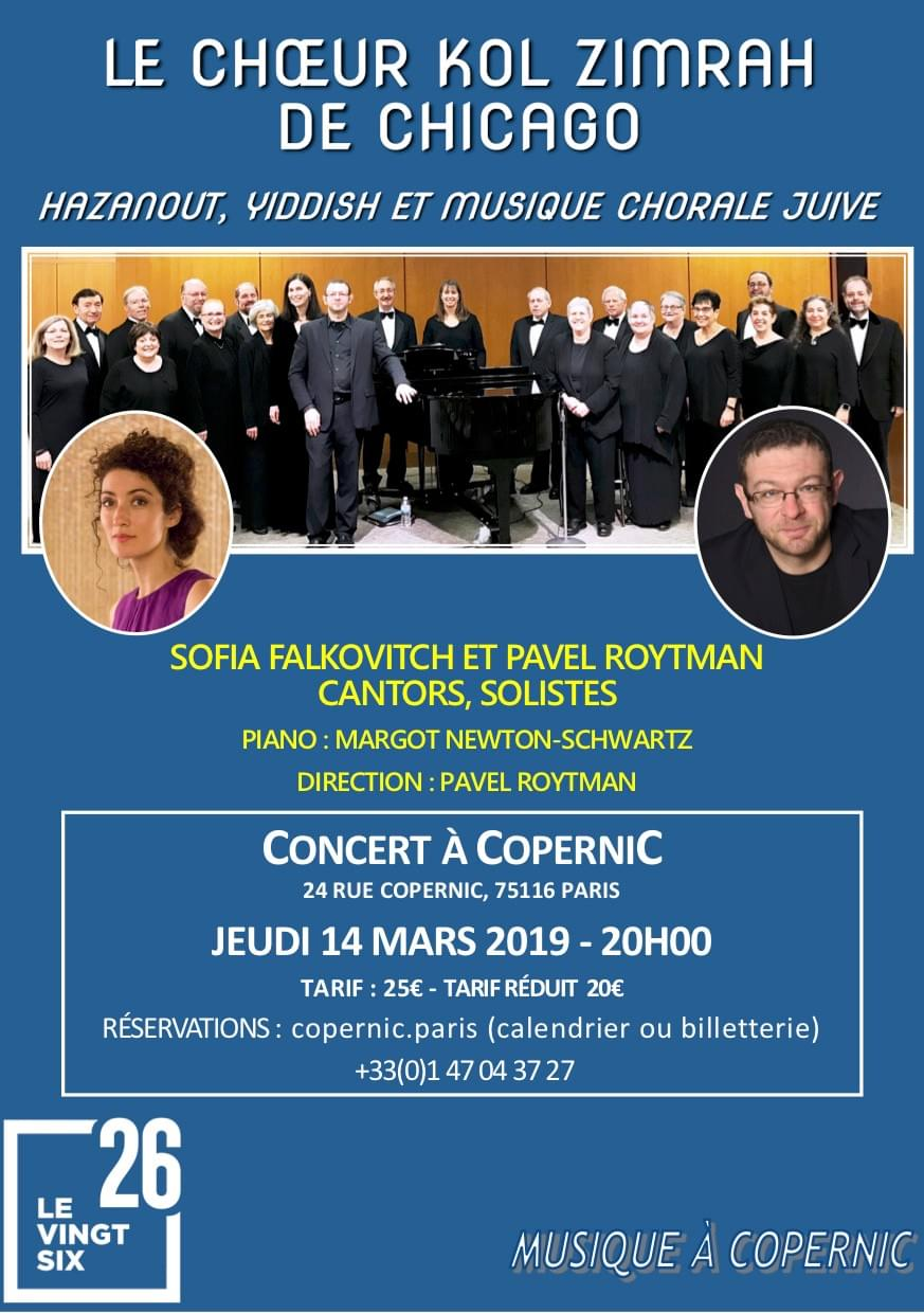Sofia Falkovitch, Kol Zimrah, Pavel Roytman, Paris, Chicago