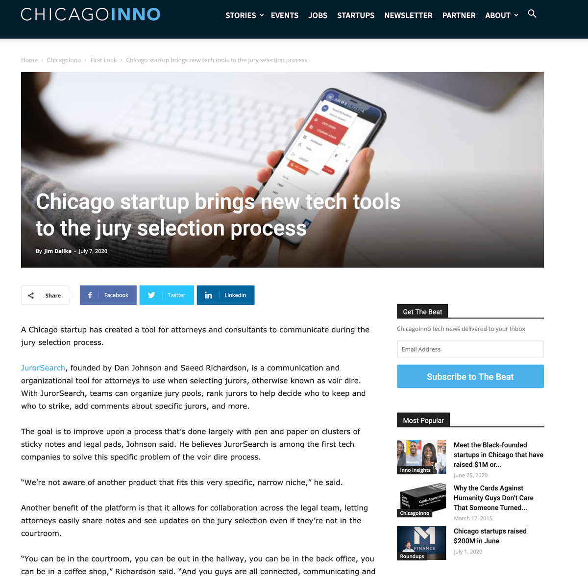 Visit the Chicago INNO website
