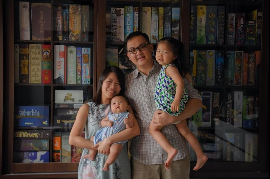 Mr Marcus Cheong and his wife Si Lin, with their daughters – two-year-old Matilda and three-month-old Rebekah. The couple, who want three or four children, said that working from home due to the pandemic has given them more confidence to care for a larger family in the future