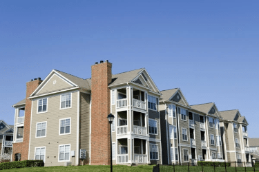 Exterior of apartment building, complex