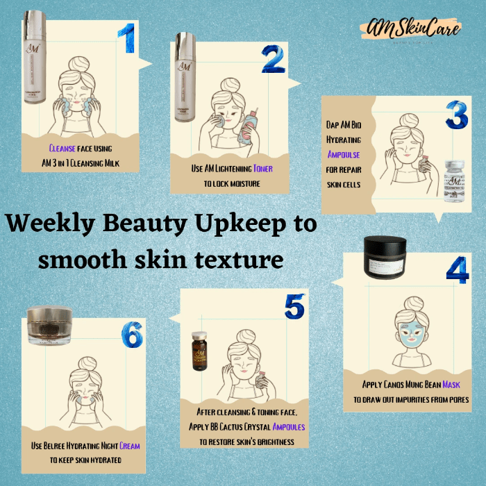 Weekly Beauty Upkeep to smooth skin texture