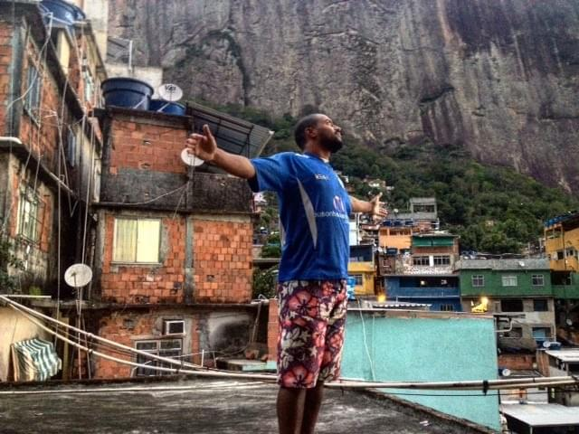 Standing on my rooftop in the Rocinha favela