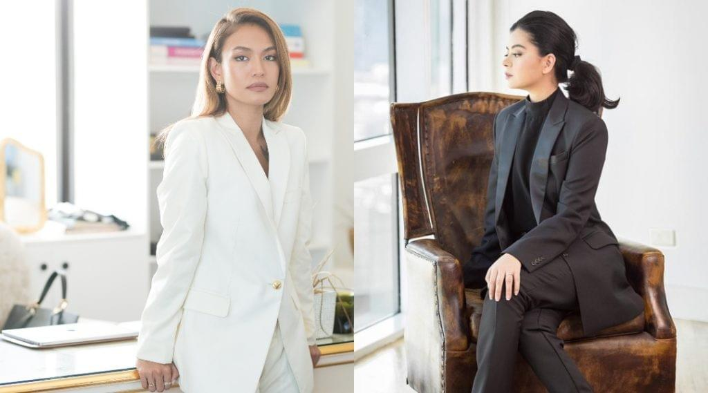 Samantha Richelle and Rocio Olbes-Ressano wearing Salvo Women suits.