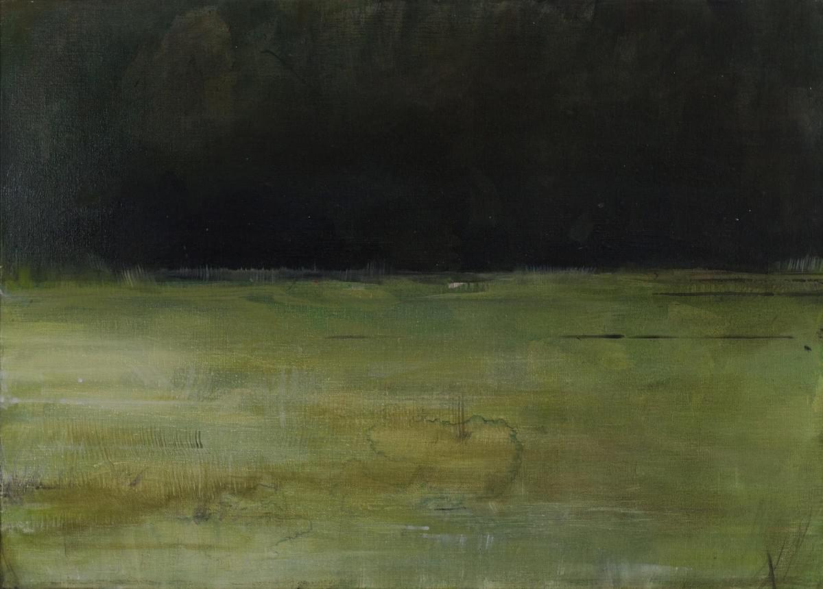 Harm van den Berg - schilderij - painting - The Green Hotel - Élyssée, 2015, oil / acrylic on canvas, 70 x 50 cm