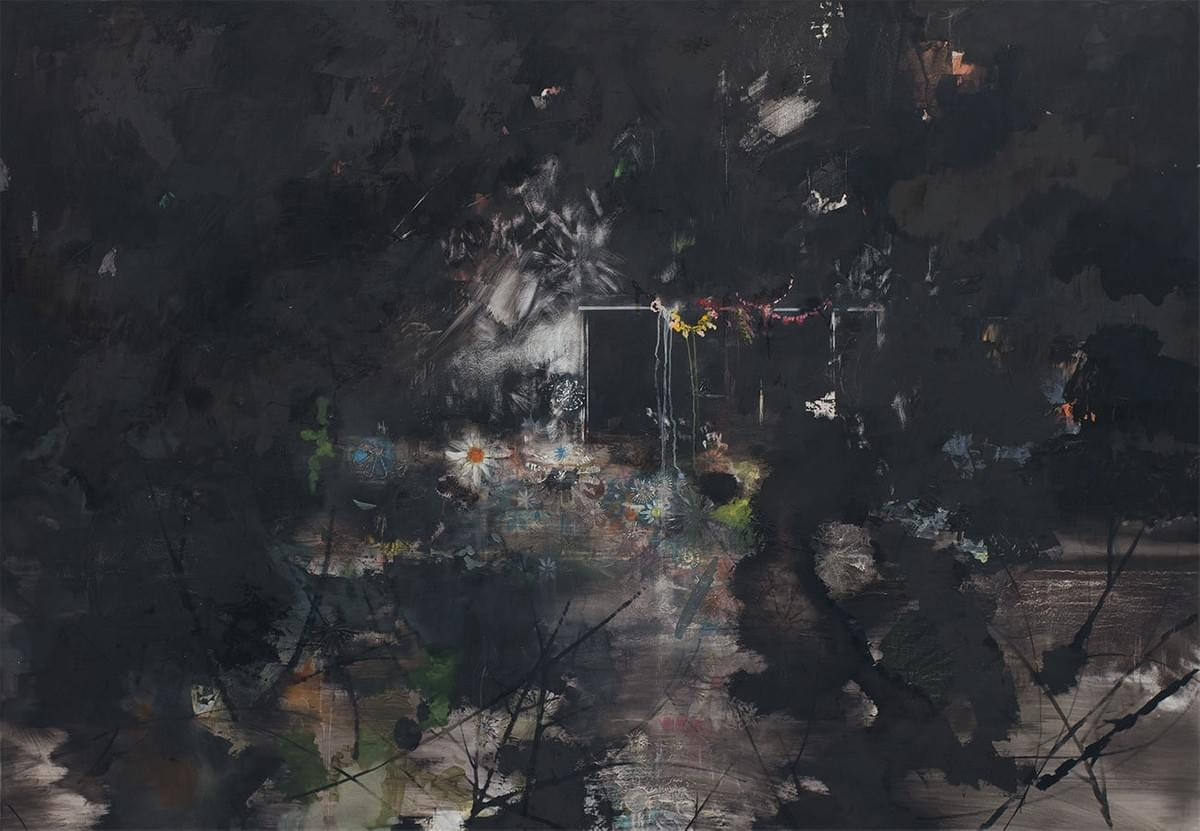 Painting - schilderij - Harm van den Berg - Garden Party, 2010, 125 x 180 cm, oil / acrylic on Dibond