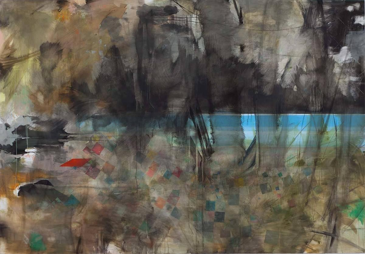 Painting - schilderij - Harm van den Berg - Pool, 2012, 125 x 180 cm, oil / acrylic on Dibond