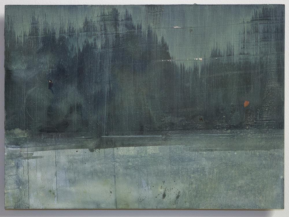 Schilderij- painting - Harm van den Berg - Untitled (view), 2014, 20 x 25 cm, oil / acrylic on wood
