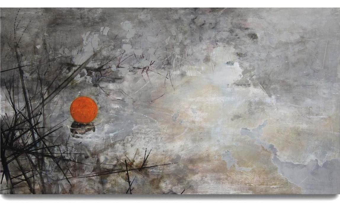 Painting - schilderij - Harm van den Berg - Ball, 2009, 122 x 220 cm, oil / acrylic on wood