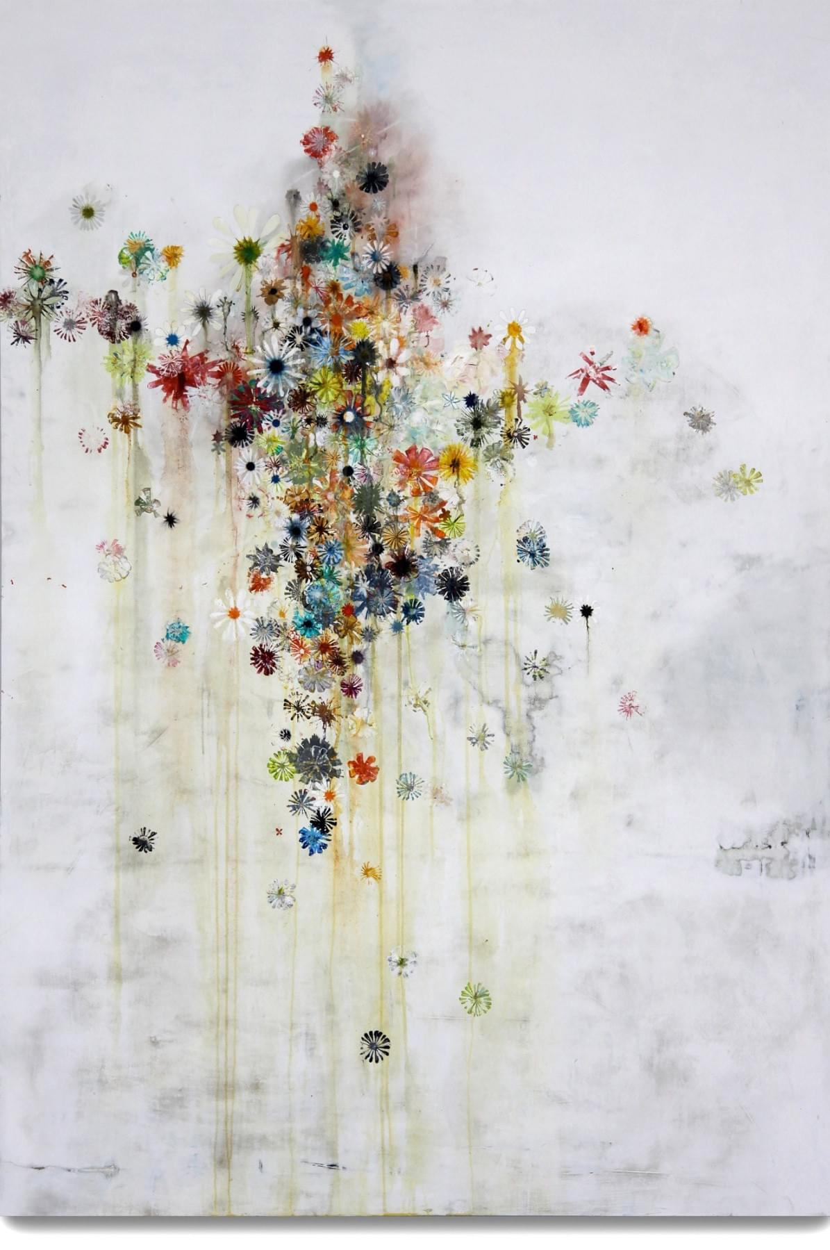 Painting - schilderij - Harm van den Berg - Wallflower, 2009, 176 x 125 cm, oil / acrylic on wood
