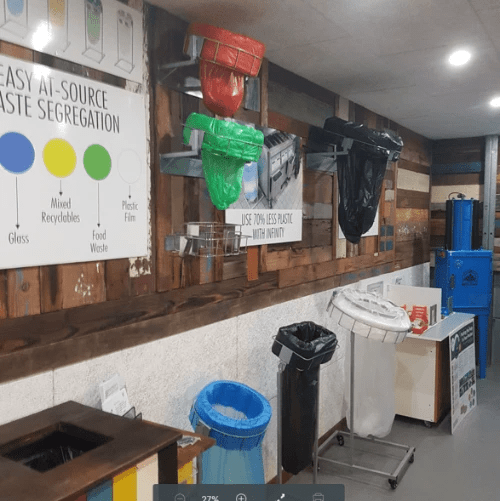 Mil-tek showroom - recycling bins