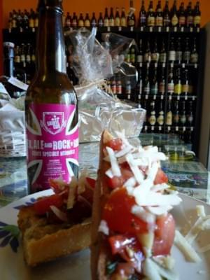 Bruschetta hédoniste à la Sex Ale and Rock 'n' Roll