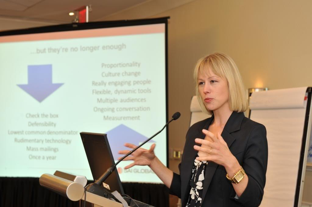 Kirsten speaking at the SCCE Conference in 2013