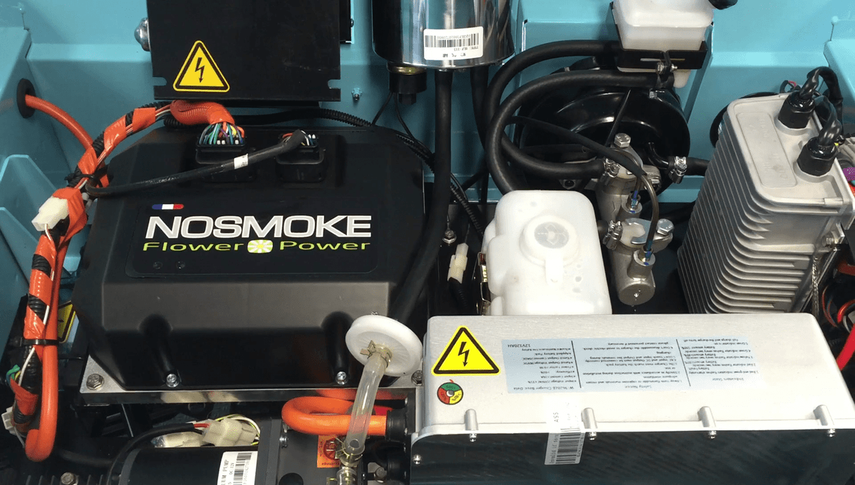 The NOSMOKE electric motor, fully assembled in France