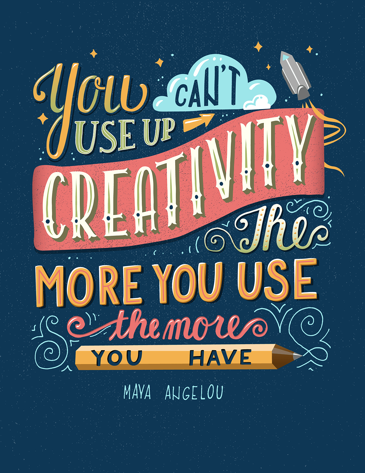 You can't use up your creativity - Maya Angelou  - per www.creativit.ee