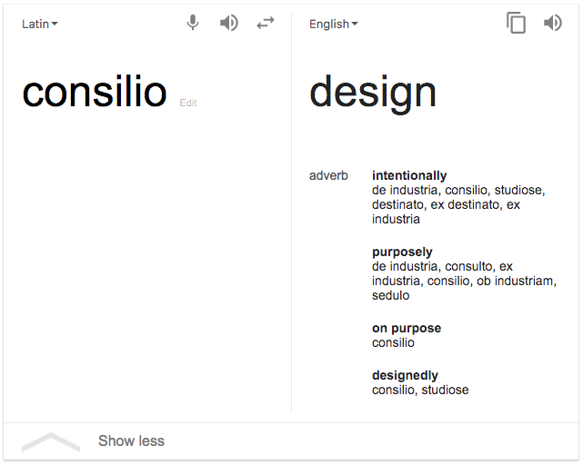 English meaning of consilio by Greg Twemlow