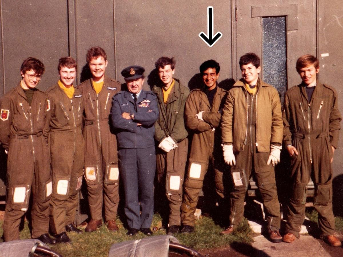 The cadet organizers, with me third from right, and The Boss – the one who a dace later wrote the reference that got me into university. Copyright Dr. David Roberts 2020