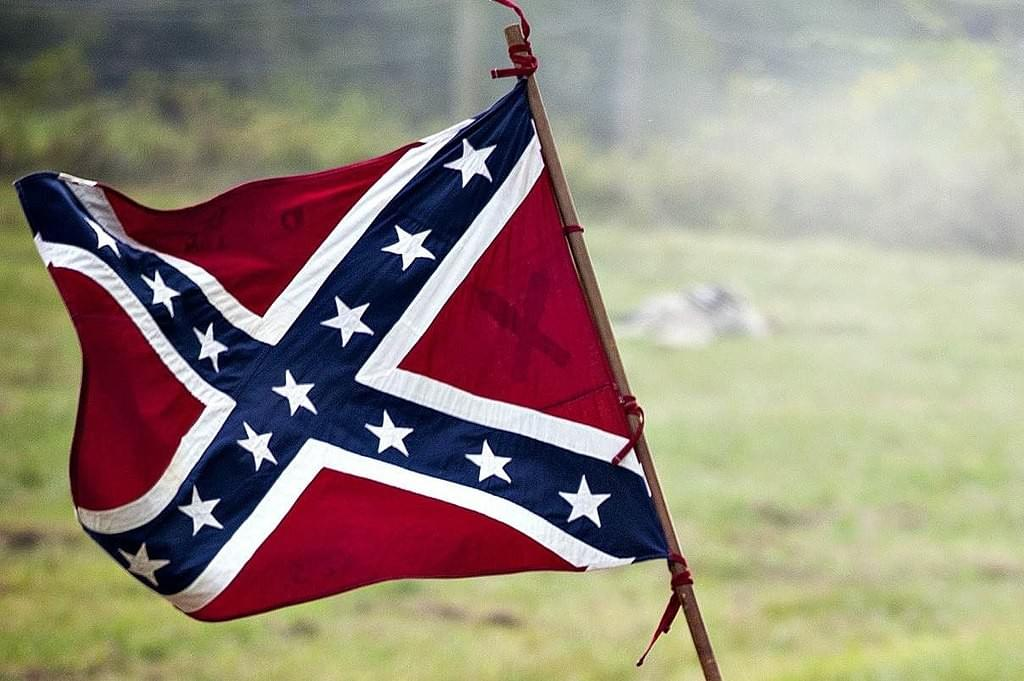 Confederate flag, Copyright Wiki Commons Public Domain