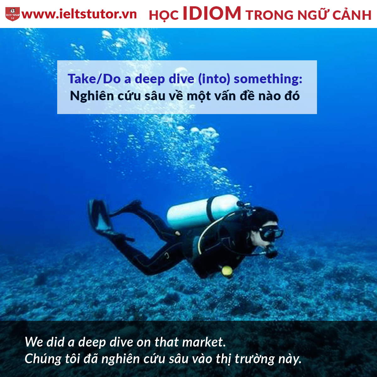 [HỌC IDIOM TRONG NGỮ CẢNH] Take a deep dive into something