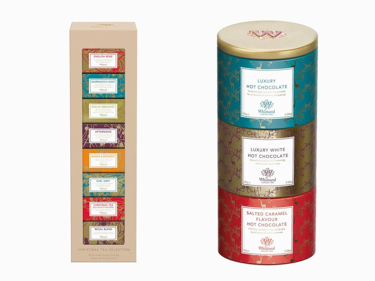 Whittard of Chelsea - tea packaging design and coffee packaging design, catalogue design and brand book design