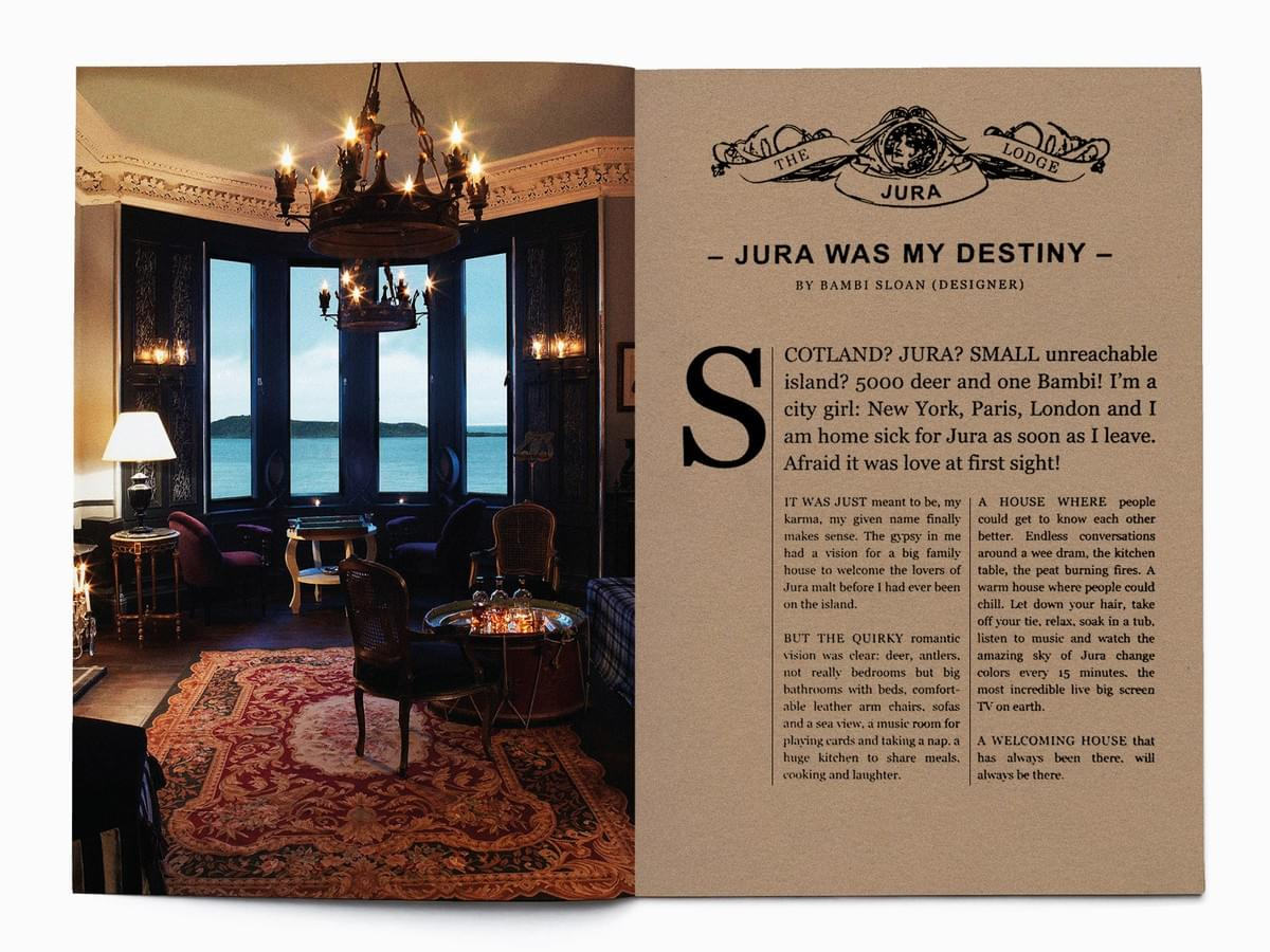 Jura Single Malt Whisky - brand identity design, marketing and brand implementation