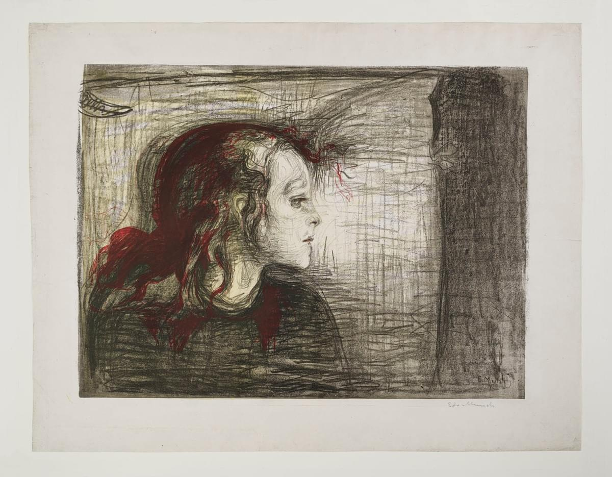 Edvard Munch, The Sick Child. I, 1896. Frederick Mulder