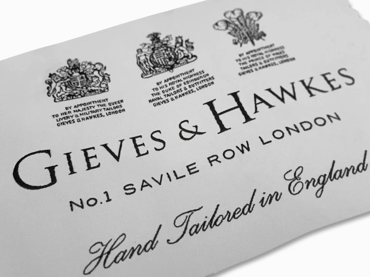 Gieves & Hawkes - Savile Row Tailors - brand identity design, marketing and brand implementation