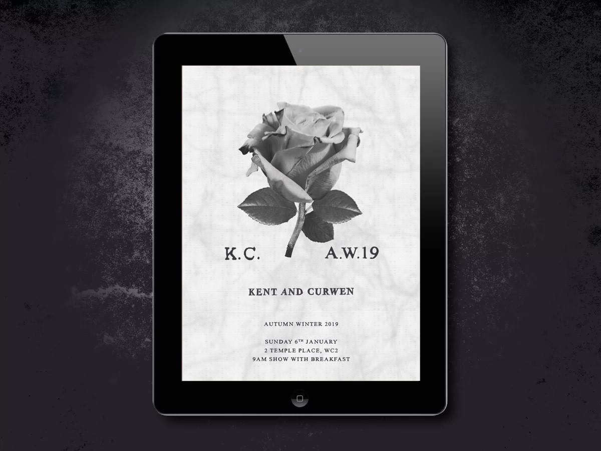 Kent & Curwen - Menswear - brand identity design, marketing and brand implementation