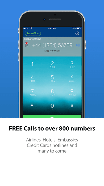 Free Call to 800 hotlines numbers