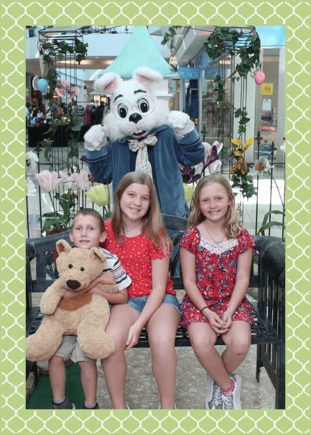 Bring stuffed animal friends to play with traditional Easter Bunny photos.