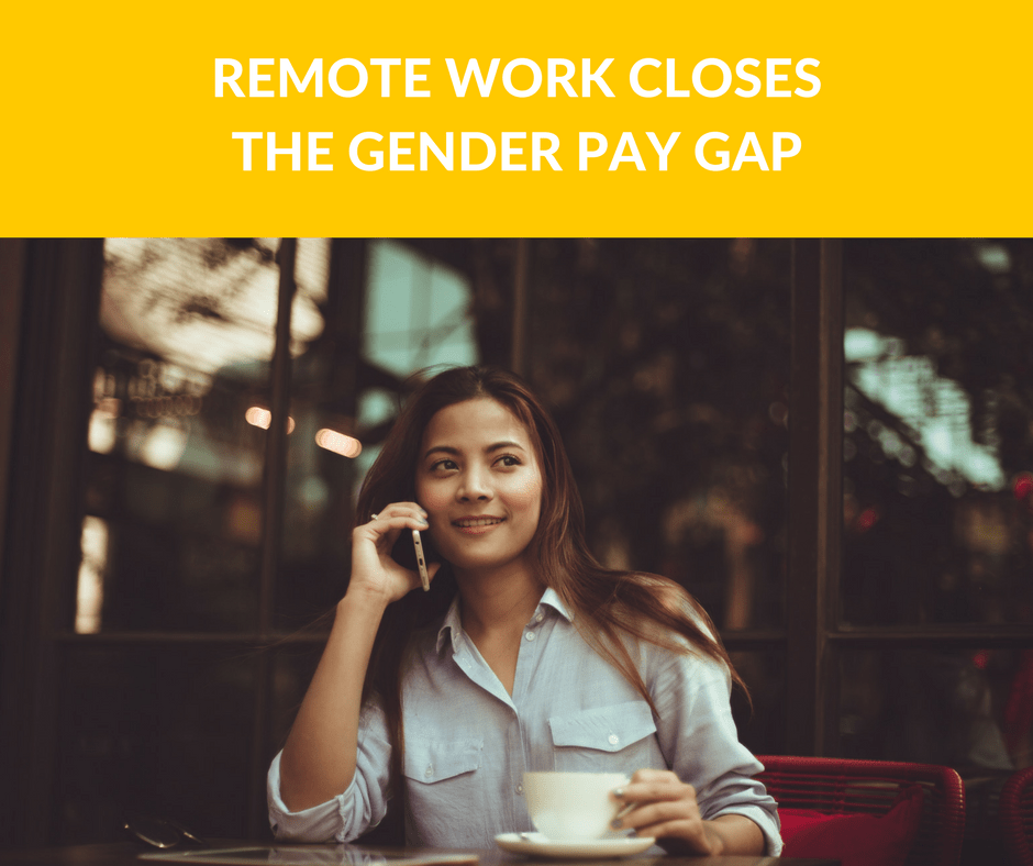 remote work closes the gender pay gap
