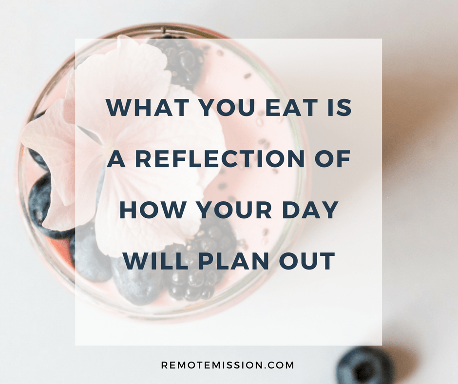 What you eat is a reflection of your day