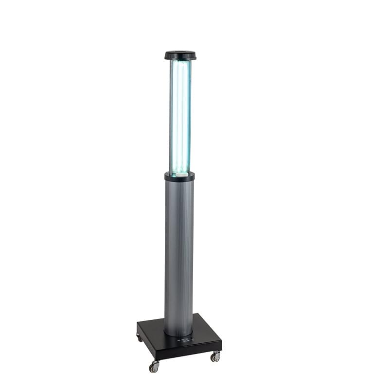 UVC disinfection lamp with remote timer and sensor