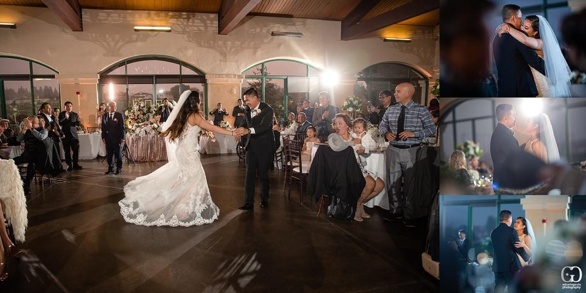 bridges golf club wedding san ramon photographer first dance  filipino cambodian wedding