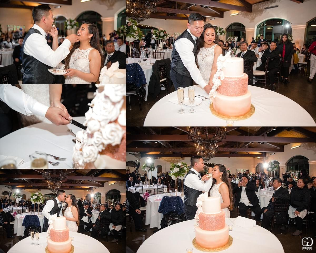 bridges golf club wedding san ramon photographer cake cutting filipino cambodian wedding