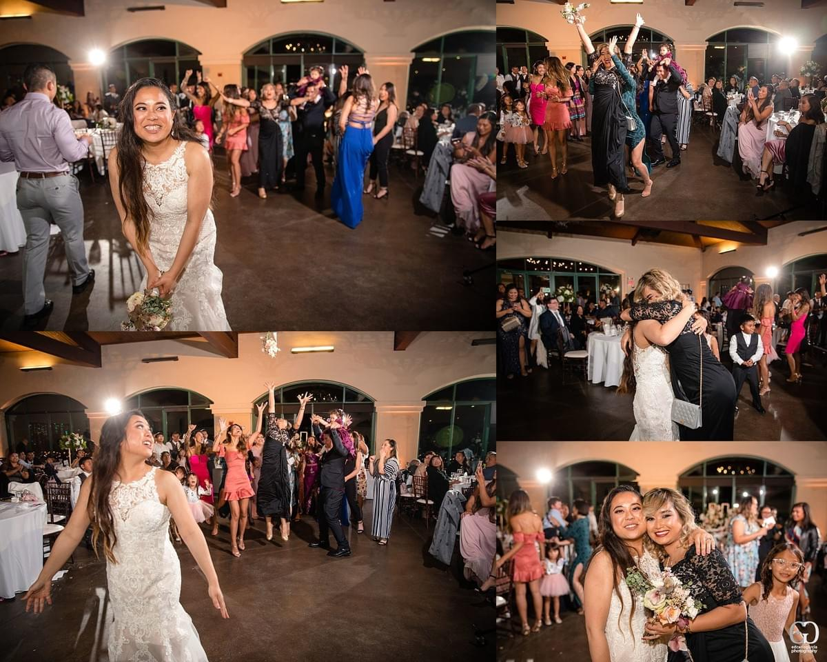 bridges golf club wedding san ramon photographer bouquet toss single ladies  filipino cambodian wedding