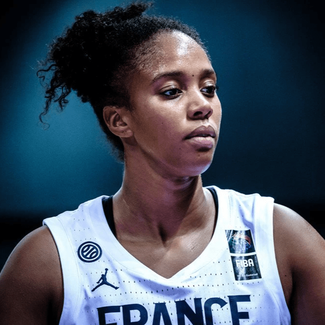 Iliana looks focused on the court wearing France jersey