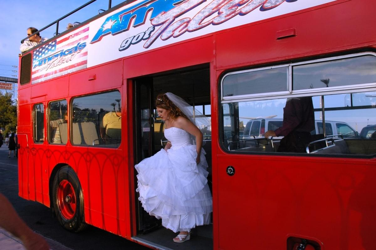 Wedding Transportation on a Double Decker Bus , Unique Wedding Transportation