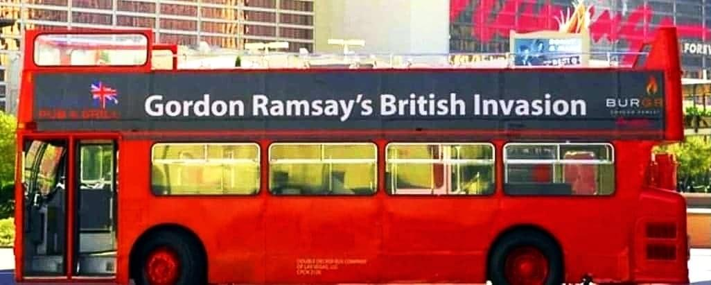 Gordon Ramsay Las Vegas Restaurant Promotion with Double Decker Bus