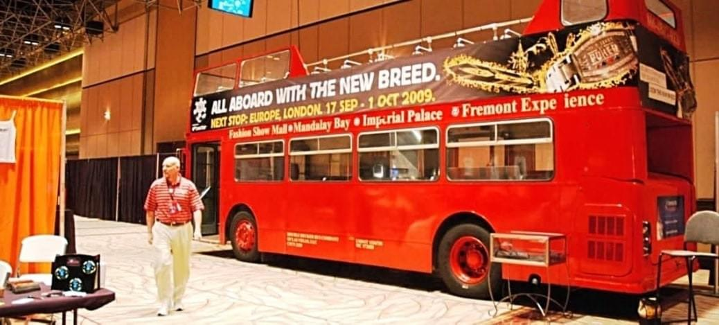 Mobile Billboard or Stationary Sign with Las Vegas Double Decker Bus