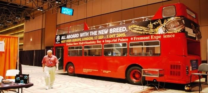 Double Decker Bus of Las Vegas offers buses for Events as temporary stages Static Stages event backdrops