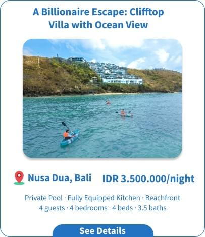 Long Term Villa Rental in Bali - Kutuh - Live in Elegant Villa with Views of Pandawa Beach