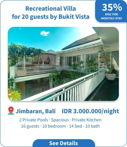 Long Term Villa Rental in Bali - Umalas - 1 BR Chic Private Villa in Umalas