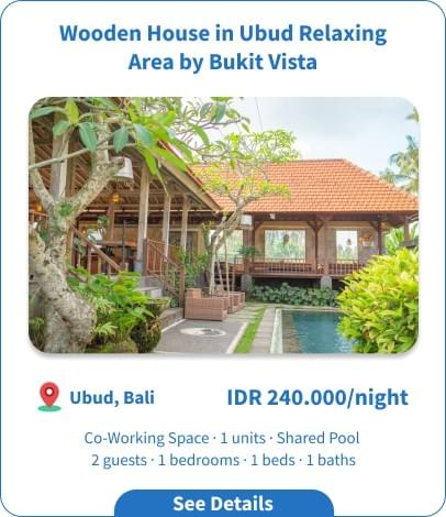 Wooden House in Ubud Relaxing Area by Bukit Vista