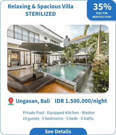 Long Term Villa Rental in Bali - Ungasan - Relaxing & Spacious Villa