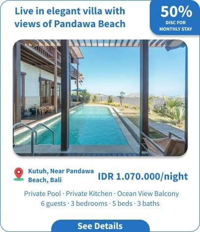 Long Term Villa Rental in Bali - Nusa Dua - A Billionare Escape : Clifftop Villa with Ocean View