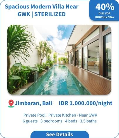 Long Term Villa Rental in Bali - Jimbaran - Spacious Modern Villa near GWK