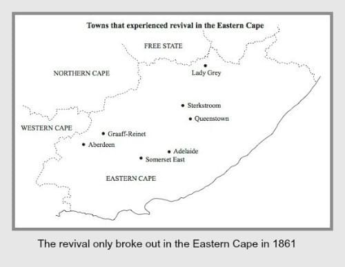 Towns in the Eastern Cape that experienced revival in 1860/61